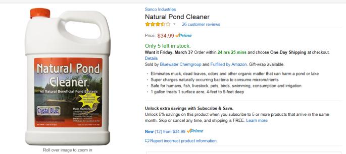 natural pond cleaner